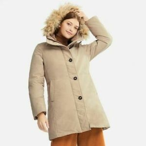 Uniqlo Ultra Warm Down Heat Tech Coat Beige